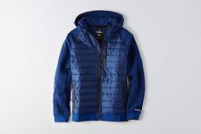 NWT American Eagle Men's ACTIVE FLEX Quilted Full Zip Jacket Cobalt Blue  XLT