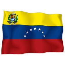 "VENEZUELA Flag car bumper sticker decal 6"" x 4"""