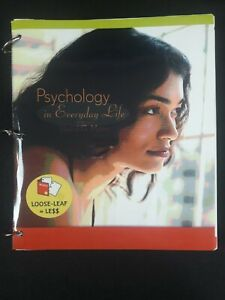 PSYCHOLOGY IN EVERYDAY LIFE (LOOSE LEAF) By David G. Myers