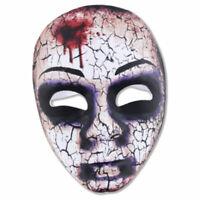 Zombie Maske Stoff Tod Dämon Grusel Horror Untoter Halloween Karneval Zubehör