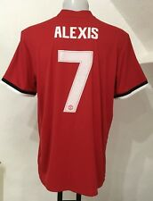 MANCHESTER UNITED 2017/18 HOME SHIRT ALEXIS 7 BY ADIDAS MEN'S XL CLUB NUMBERS