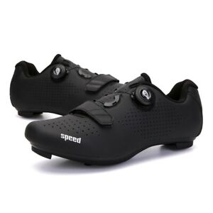 Mens And Womens Locked Bike Lock Shoes Hard-soled Spinning Cycling MTB Shoes