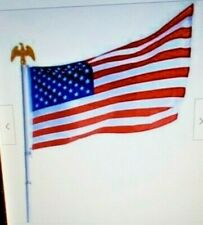 U.S. Flag Pole Set W/ Golden Eagle Top, 6-Foot Pole, (3 x 5 Flag) New in Box