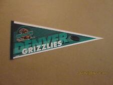 IHL Denver Grizzlies Vintage Defunct Logo Hockey Pennant