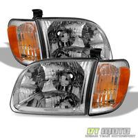 For 2000-2004 Toyota Tundra Regula/Access Cab Headlights+Parking Corner Lights