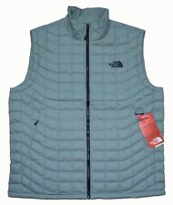 New Large THE NORTH FACE Mens Thermoball packable puffer quilted vest Gilet gray