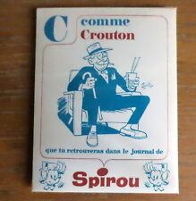 Superbe carte Buvard de spirou alphabet année 60' Crouton par Tillieux
