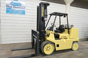 Hyster S155XL, 15,000# Cushion Tire Forklift, LPG, Three Stage, S/S, Yale GLC155