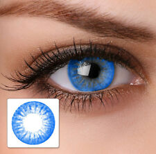 Blue Color Unisex Fashion Party Contact Lens With Case & Solution -Zero Power-