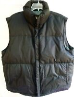 Banana Republic-Mens Puffer Vest Jacket, Extra Large-XL, Down Filled, Zip & Snap