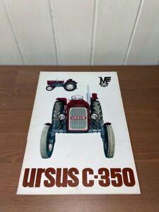 brochure prospekt PROSPECTUS TRACTEUR URSUS C-350 traktor-zetor-universal-someca
