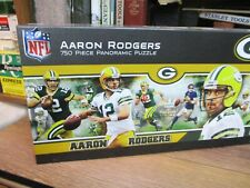 """NFL Aaron Rodgers 750 Piece Panoramic Puzzle Green Bay Packers 91548 36"""" X 12"""