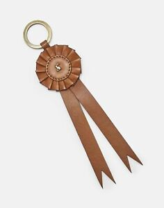 Joules Womens Coleford 30Th Anniversary Leather Rosette Keyring - Tan - One Size