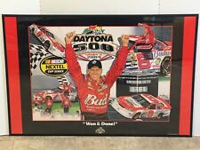 Framed Dale Earnhardt Jr 2004 Daytona 500 Won & Done Sam Bass  Nascar Poster