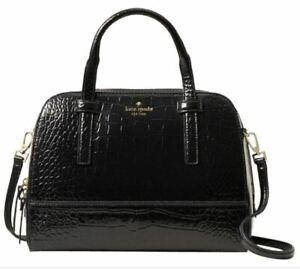 NWT Kate Spade Riverside Street Exotic Black Small Felix Retail $548.00