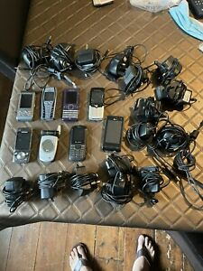 Job Lot Old Mobile Phones SAMSUNG LG SONY ERICSSON NOKIA BUNDLE OF CHARGERS