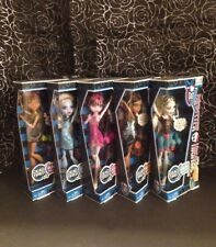 Monster High DEAD TIRED Lot of 5 Clawdeen Abbey Draculaura Rebecca Lagoona 2012