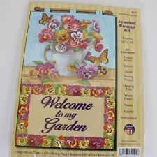 Spring Banner Kit Welcome to My Garden DIY Jeweled Banner Kit