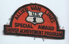 Allied Van Lines special award driver achievement program patch 2-1/4X4-1/8 #772
