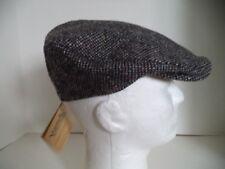 Irish tweed cap black gray speckled ear neck flap Hanna Hats Donegal Ireland ivy