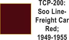 Tru Color TCP-200 SOO Line 1949-55 Freight Car Red 1 ounce
