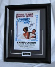 SOPHIA LOREN SIGNED GERALDINE CHAPLIN SIGNED A COUNTESS FROM HONG KONG. AFTAL