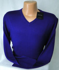 Dunning Golf V-Neck Sweater in Merino Wool Purple MSRP $135 PGA Tour NWT - in XL