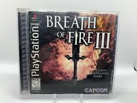 Breath of Fire III 3 PS1 PlayStation 1 2 3 4 COMPLETE Clean Copy!