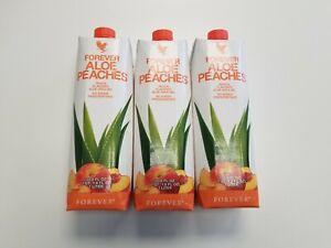 3 New Forever Aloe Peaches™ -33.8 fl.oz(1 Liter)3 Pack SALE