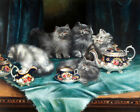 5 cute persian cats Oil painting Giclee Art Printed on canvas L2867