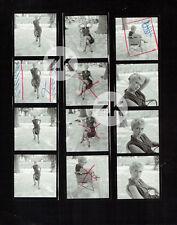 MARTINE CAROL Jambes Legs Nylon Robe Sexy Candid Photo 1950s