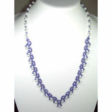 Purple Crystal and Pearl Necklace
