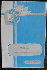 AVIATION,PROGRAMME DE THEATRE DE L'EQUIPAGE, TROUPE THEATRALE DU G.M.M.T.A.