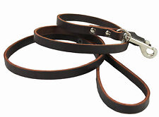 "Genuine Leather Dog Leash 4 Ft long, 1/2"" wide for Small and Medium Dogs"