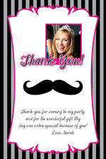 MUSTACHE Printable Birthday Party Invitation File Thank You Card Note Sweet 16