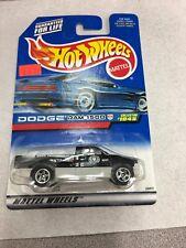 Hot Wheels 1999 #1045 Dodge Ram 1500 Black And White New On Card B1