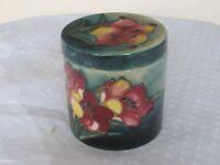 W. Moorcroft Vintage Freesia Pattern Jar & Lid