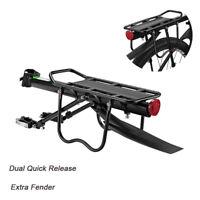 ROCKBROS Quick Release Carrier Bike Pannier Rack with Fender Max 75KG Black