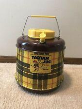 Vintage Tartan Picnic Jug Fiberglass Insulated Cooler- Hot or Cold