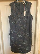 £65 WHITE STUFF Megan Structured Emb Dress UK 10 12 14