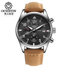 Superbe Montre De Luxe Top Qualité Homme OCHSTIN Cuir Date Chronograph Etanche