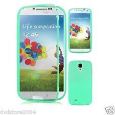 Custodia WALLET Cover VERDE ACQUA FRONTE TRASPARENTE per Samsung Galaxy S5 G900