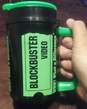 Blockbuster Video thermal mug cup wow what a difference 22 oz thermo 80s thermos