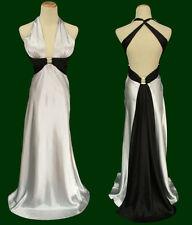 Morgan & Co Prom Formal Full Length Junior Dress size 3 Silver Black $130 Long