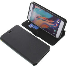 Case For HTC E66/HTC One X10 Book-Style Protective Case Phone Case Black Book