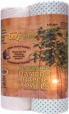 Bamboo Paper Towels Washable Reusable - Ecological Value pack 2 Roll (50 Sheets)