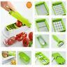 12pcs Slicer Vegetable Fruit Peeler Cutter Chopper Grater Salad Kitchen Tools SU