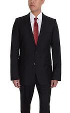 Hugo Boss Alim2/HimensHM Slim Fit 46R 56 Solid Charcoal Gray Wool Suit