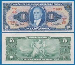 Brazil 5 Cruzeiros P 176 d 1964 Combine FREE! UNC  Low Shipping