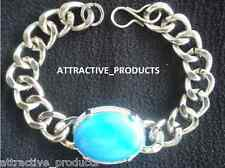 INDIAN BOLLYWOOD FASHION SALMAN KHAN STYLE TURQUOISE FEROZA STONE MEN BRACELET